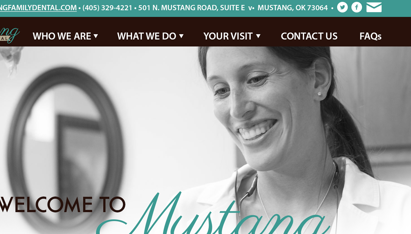 Mustang Family Dental Website • DayCreative