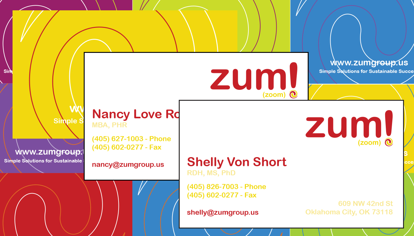 Zum! Consulting Business Cards • DayCreative